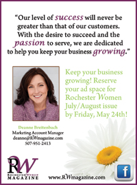 Advertise with Rochester Women Magazine